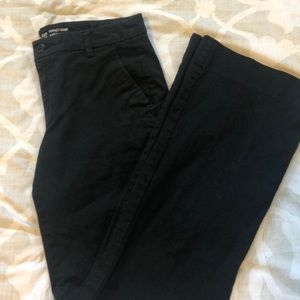 Women's wide leg black khakis
